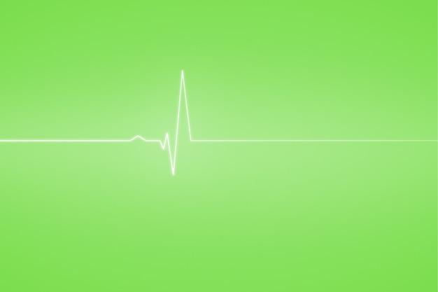 Sfondo medico con linea verde ecg