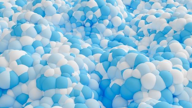 Sfondo multicolore di particelle geometriche. rendering 3d.
