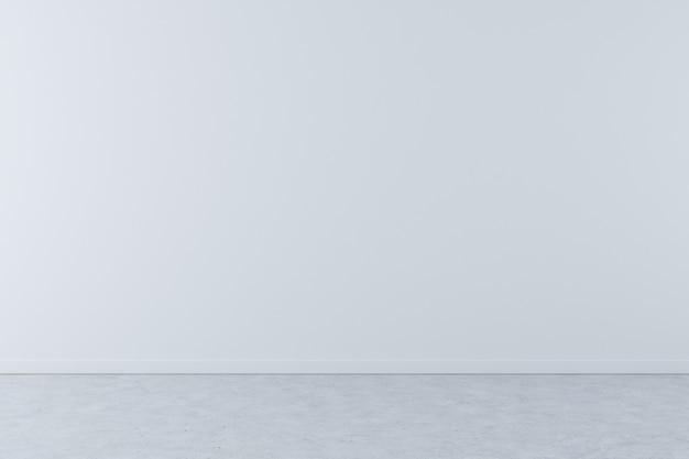 Sfondo muro bianco con pavimento in cemento