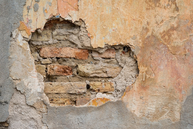 Sfondo muro danneggiato