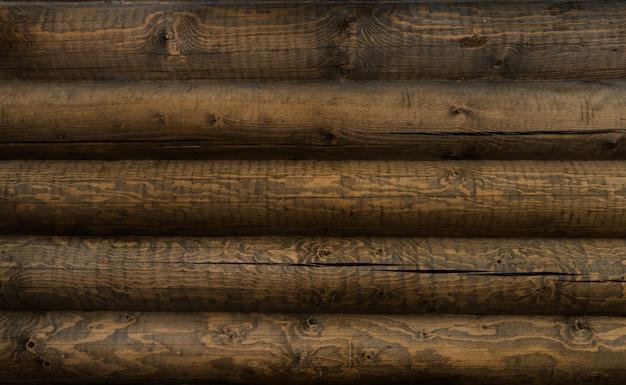 Sfondo muro di casa di tronchi