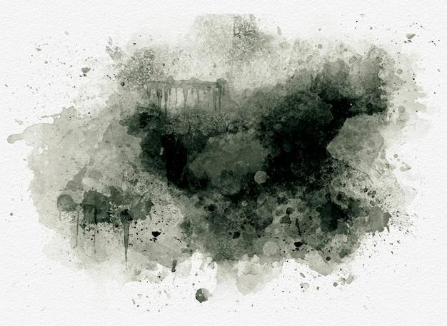Sfondo nero ad acquerello