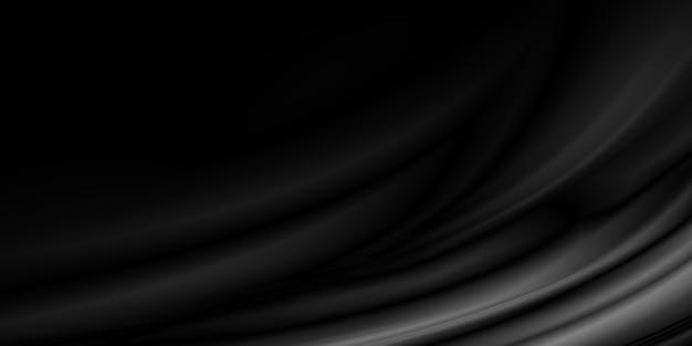 Sfondo nero tessuto di lusso