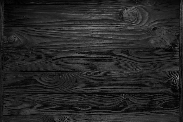 Sfondo nero trama in legno