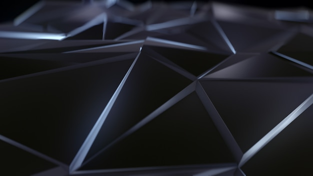 Sfondo nero triangolo astratto basso poli