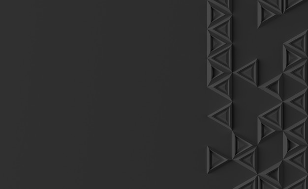 Sfondo parametrico basato su griglia triangolare con diverso modello di diverso volume illustrazione 3d