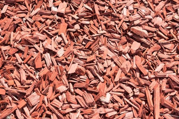 Sfondo realizzato con trucioli di legno marrone