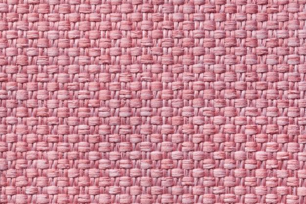 Sfondo rosa chiaro tessile con motivo a scacchi