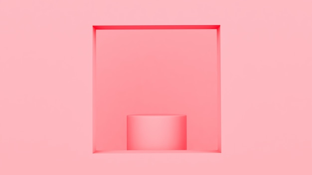 Sfondo rosa con piedistallo