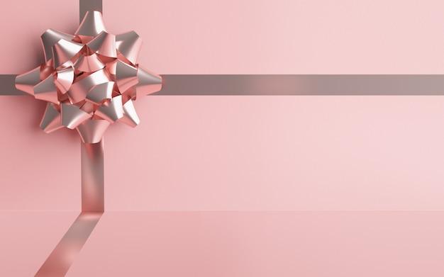 Sfondo rosa confezione regalo per compleanni, matrimoni, anniversari