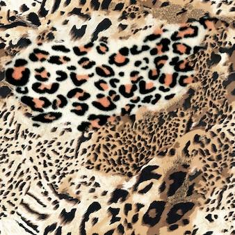 Sfondo senza giunte di leopardo