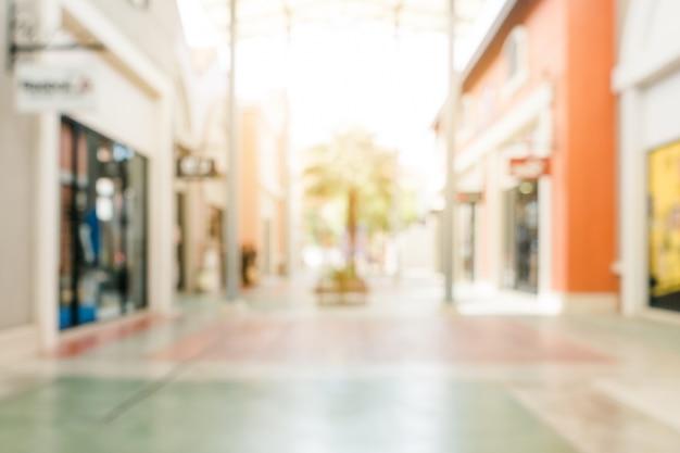 Sfondo sfocato - negozio di shopping mall sfocatura sfondo con bokeh. immagine filtrata d'epoca.