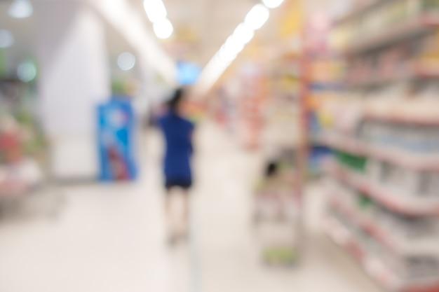 Sfondo sfocato: supermercato