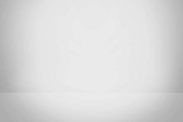 Sfondo sfumato bianco e grigio, sala studio vuota