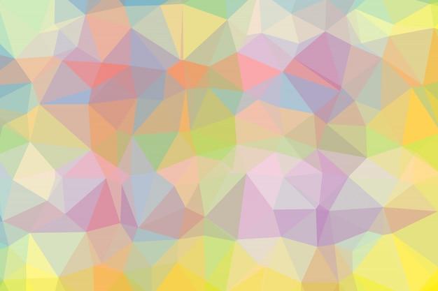 Sfondo sfumato con forma a mosaico di celle triangolari e quadrate di vari colori