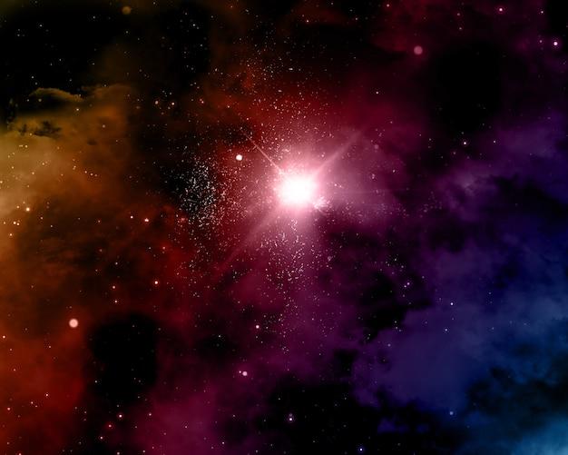 Sfondo spazio con nebulosa