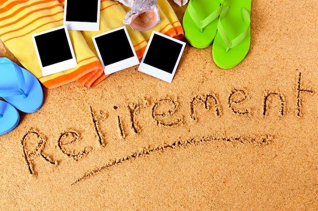 Sfondo spiaggia di pensionamento