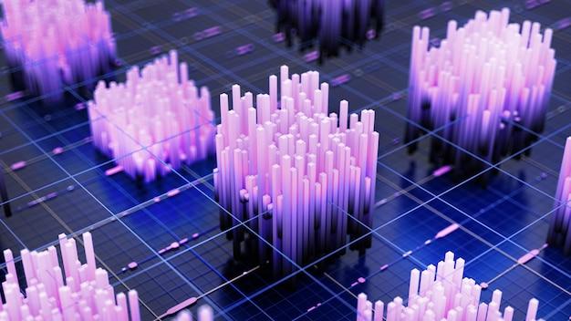 Sfondo tecnologia futuristica. 3d illustrazione, rendering 3d