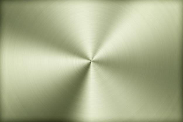 Sfondo tecnologico con metallo lucido, spazzolato, trama radiale di lega, titanio, acciaio, cromo, nichel.