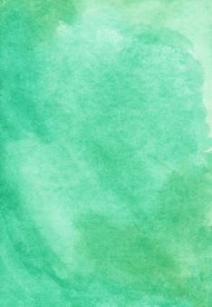 Sfondo verde smeraldo chiaro dell'acquerello