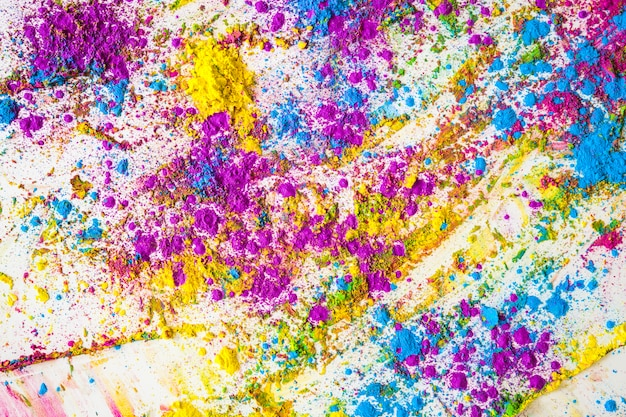 Sfumature di viola, blu e giallo brillante colori secchi