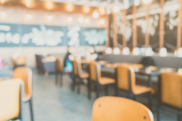 Sfuocatura astratta caffetteria interno