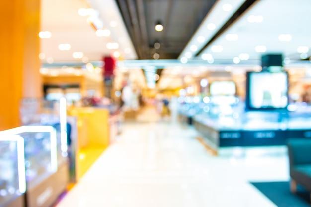 Sfuocatura astratta con bokeh e centro commerciale defocused nel grande magazzino