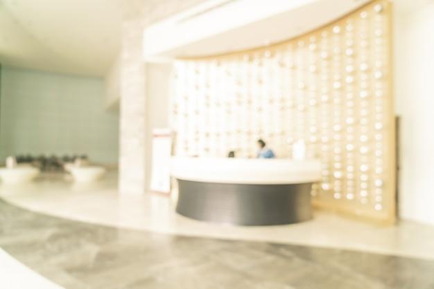 Sfuocatura astratta dell'hotel lobby per lo sfondo