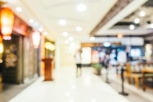 Sfuocatura astratta e centro commerciale defocused