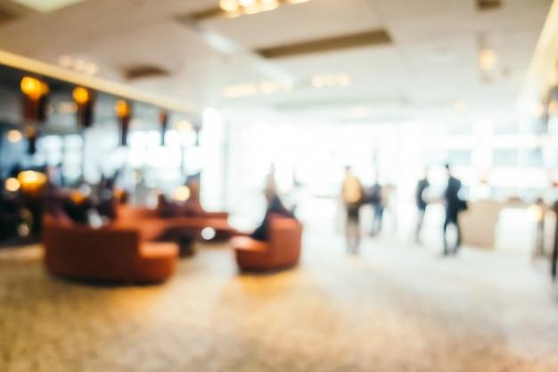 Sfuocatura astratta e lobby dell'hotel defocused