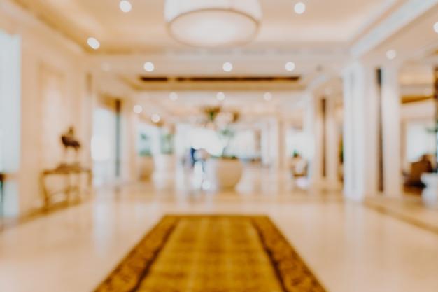 Sfuocatura astratta hall dell'albergo di lusso