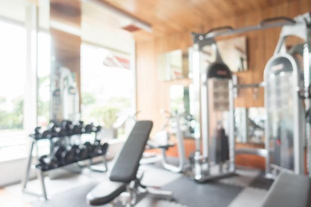 Sfuocatura astratta palestra e sala fitness