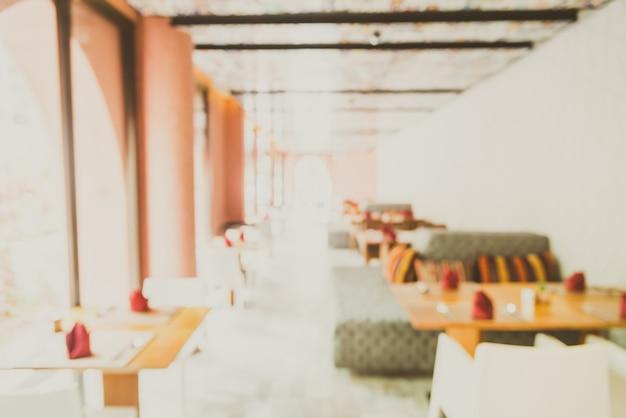 Sfuocatura astratta sfondo ristorante interno