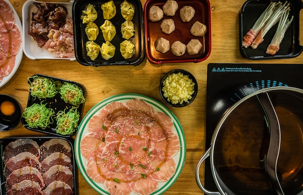 Shabu food in stile coreano