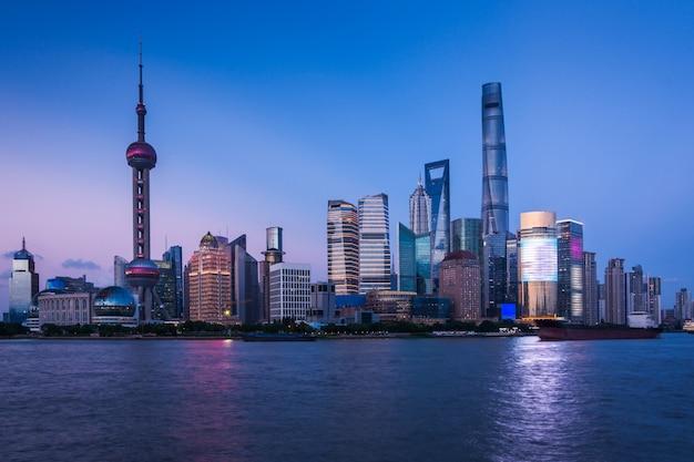 Shanghai di notte, cina