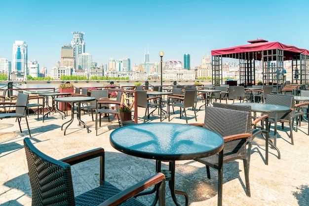 Shanghai lujiazui bar all'aperto
