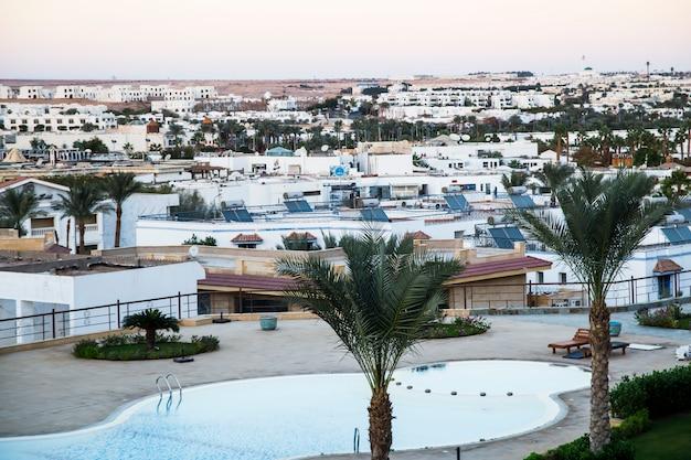 Sharm el sheikh. paesaggio della città in africa. città turistica