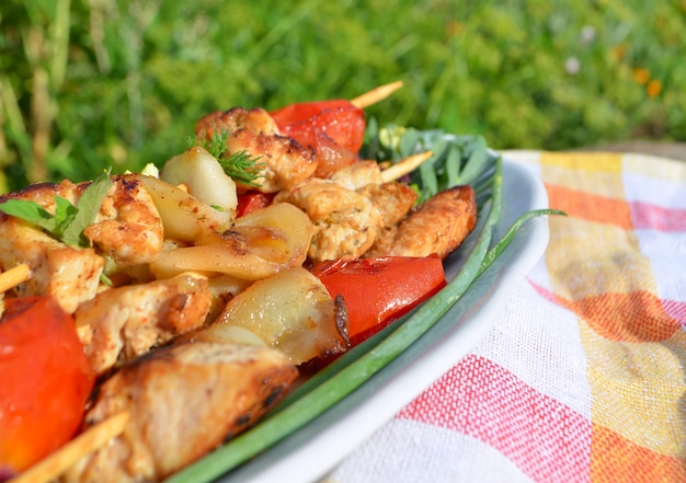 Shish kebab di pollo