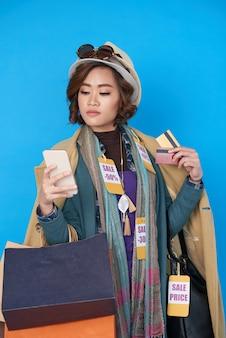 Shopping di successo su smartphone