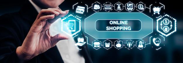 Shopping online e tecnologia di denaro su internet