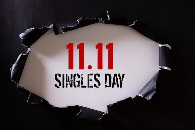 Shopping online in cina, vendita 11.11 single.