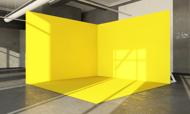 Showroom pop-up giallo