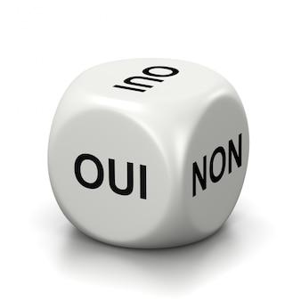 Sì o no dadi bianchi francesi