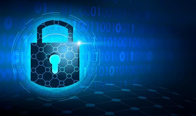 Sicurezza informatica del collegamento digitale del mondo di tecnologia astratta del sistema di sicurezza della serratura a chiave