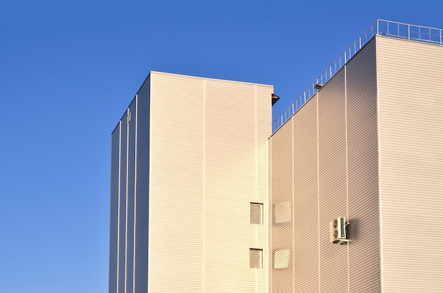 Siding on high-rise industrial building