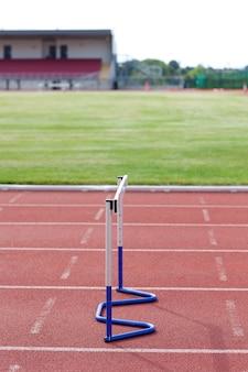 Siepe di atletismo isolata