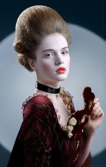 Signora victotorian. giovane donna nel xviii secolo