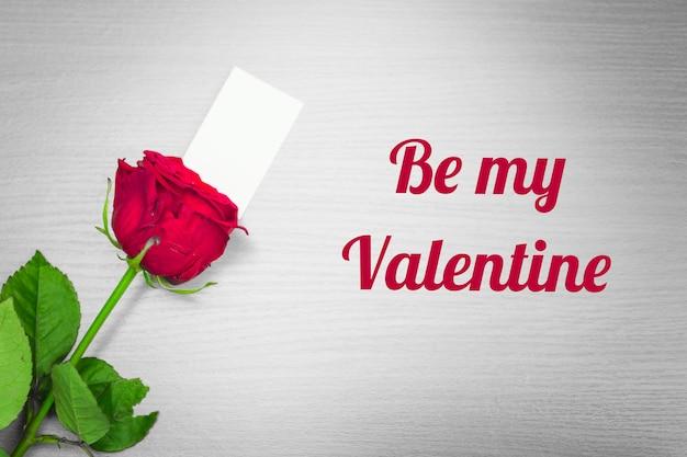 Sii il mio san valentino con una rosa rossa