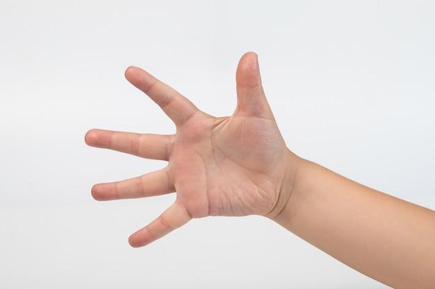 Simboli di mano e dito ragazzo