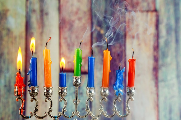Simboli ebraici hanukkah, il festival delle luci